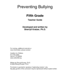 Bullying Prevention - Fifth & Sixth Grade