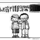 Bullying Prevention Helping Others Coloring Page