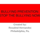 Bullying Prevention: Stop the Bullying Now!