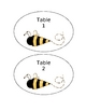 Bumble Bee Theme Table Number 1-6