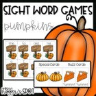 Bumpkin Pumpkins {A Differentiated Sight Word Game}