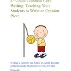 Bundle:  4th Grade Opinion & Narrative Common Core Writing