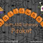 Bundle Halloween Math and Literacy Common Core 2nd and 3rd