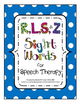 http://www.teacherspayteachers.com/Product/Bundle-for-Speech-Therapy-Articulation-Sight-Words-R-L-S-Z-657389