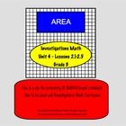 Bundle of Area SMARTboard Lessons Investigations Unit 4; C