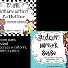 Bundled Number Sense and Math Intervention w/Lesson Plans