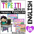 Bundled Read it! Type it! Write it!
