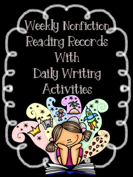 Bundled EDITABLE Weekly Reading Records (Fiction & Non-Fiction)