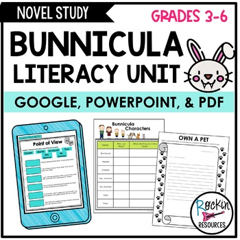 Bunnicula Unit Activities, Quizzes, and Tests
