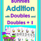 Bunnies in Egg-Mobiles Addition with Doubles and Doubles +1