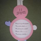 Bunny Acrostic Poem and Craftivity