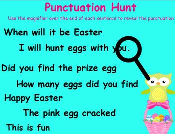Bunny Hop Stop Easter Punctuation for ActivBoard