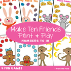 Bunny Makes Ten - Math Center Activity Game for Addition