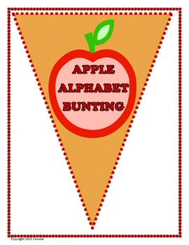 Bunting - Apple Alphabet