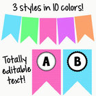 Bunting: Chevron Print with Editable Text