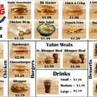 Burger King Money Menu Math
