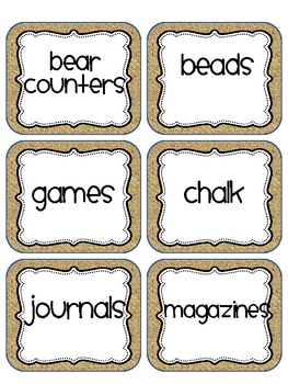 Burlap Mega Pack ( Over 170 classroom labels)