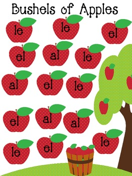 Bushels of Apples Phonic al, le, el Game