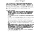 Business Letter Assignments