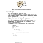 Business Letter Writing Prompt and Organizer
