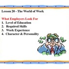Business Principles - Lesson 20: The World of Work