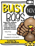 Busy Bag Fast Finishers - November