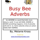 Busy Bee Adverbs Matching Literacy Center