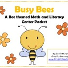 Busy Bee Themed Math and Literacy Center Packet