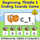 Busy Bees Beginning, Medial and Ending Sounds Game for Whi