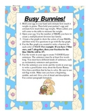 Busy Bunnies Easter Activity Packet!