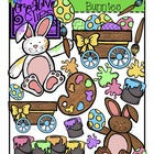 Busy Easter Bunny {Creative Clips Digital Clipart}