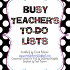 Busy TpT Teacher&#039;s To-Do Lists