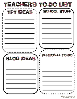 Busy TpT Teacher's To-Do Lists