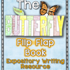 Butterflies Flip Flap Book - An Expository Writing Resource