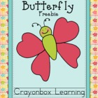 Butterfly Colors - Flashcards & Coloring Sheet - Freebie