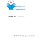 Butterfly Contractions File Folder Game