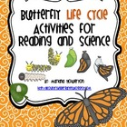 Butterfly Life Cycle Activities for Science and Reading ELA