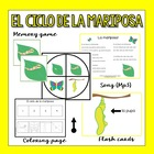 Butterfly Life Cycle in Spanish  (Flashcards, song &amp; more)