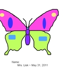 Butterfly Template for Paint.net