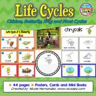 Butterfly and Frog Life Cycle Posters, Word Cards and Mini Books