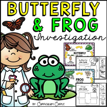Butterfly and Frog Life Cycle Thematic Unit!