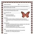 Butterfly or Moth Informational Report Writing Sheets, 12 