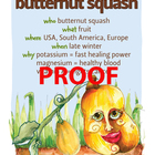 Butternut Squash Poster - Available in English and Spanish!