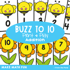 Buzz to Ten - Math Center Game for Early Addition