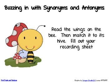 Buzzing In with Synoyms (and Antonyms)