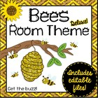 Buzzy Bees!  Bee Themed Deluxe Classroom Decor Set {plus e