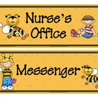 Buzzy Friends (Bee) Theme Classroom Passes Set