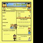 Buzzy Friends (Bee) Theme Newsletter Template PUBLISHER Version