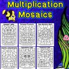 By the Sea Multiplication Mosaics - 6 NEW Images-Math Fact Fun!