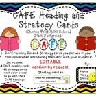 CAFE (EDITABLE) Letters, Posters, Strategy Cards (Rainbow